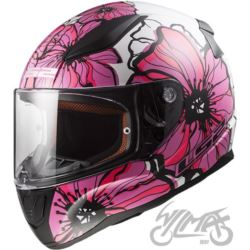 KASK LS2 FF353 RAPID POPPIES WHITE PINK L